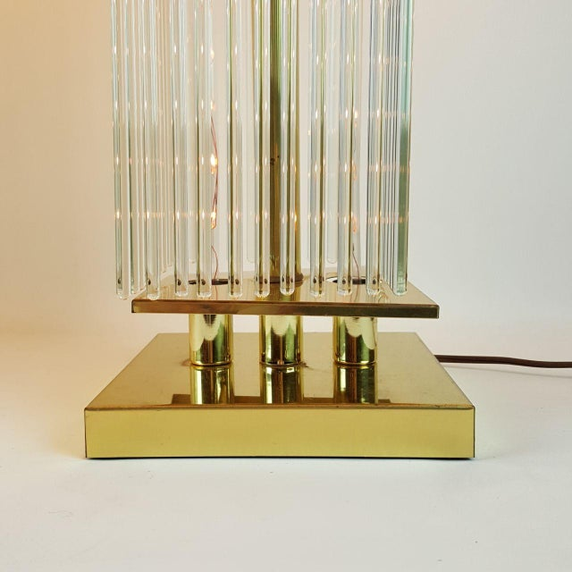 Sciolari-Style Glass Rod Table Lamps - A Pair - Image 10 of 10