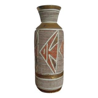Bitossi Seta Gold Detail Vase