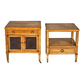 Baker Milling Nightstands - A Pair