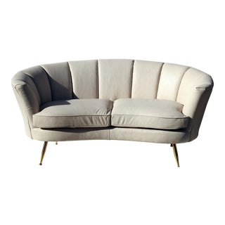 Modern Italian Leather Loveseat