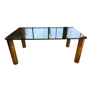 Pace Collection Brass & Glass Dining Table