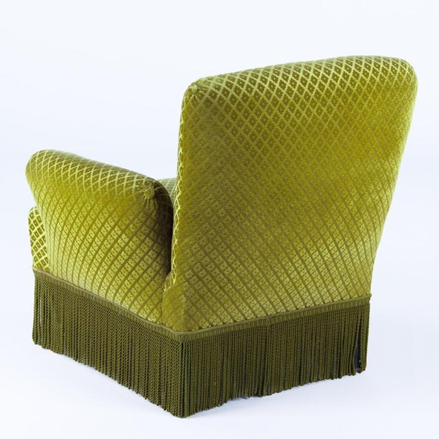 1940s French Green Upholstered Armchairs - A Pair - Image 9 of 10