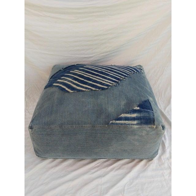 Indigo Floor Cushion Ottoman - Image 4 of 6