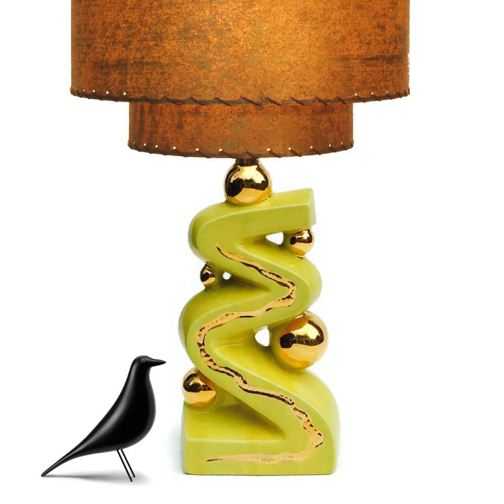 mid century modern lamp base atomic age ceramic image 6 of 9