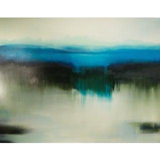 Domain Interchange Coastal Green, 2016, Oil on canvas by Liz Dexheimer.