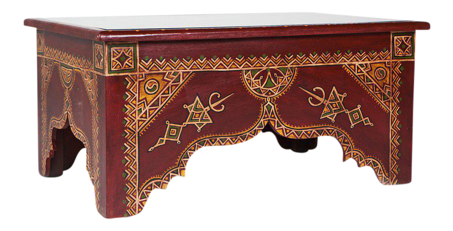 Moroccan Berber Table With Glass Top