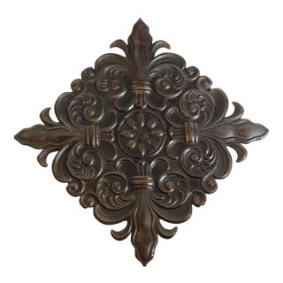 Metal 4 Point Fleur-De-Lis Wall Art