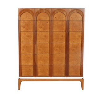 Mid Century Lacquered Highboy Dresser