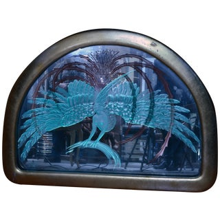 1920s Lalique Art Nouveau Illuminated Mirror
