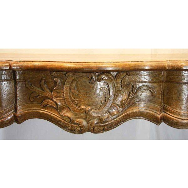 Hand Carved Oak French Provincial Mantel - Image 5 of 10