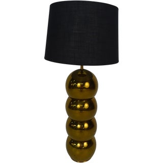 Kovacs Brass Stacked Ball Caterpillar Lamp