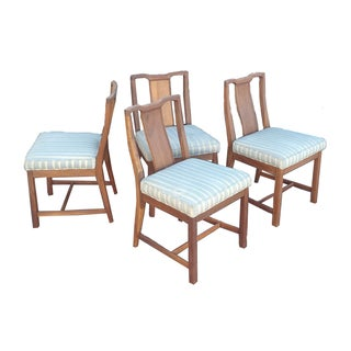 MCM Wood Dining Occasional Chairs - Set of 4