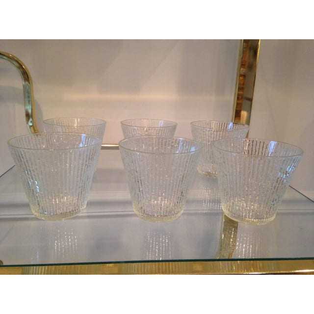 Mid-Century Clear Old Fashioned Glasses - Set of 6 - Image 2 of 4