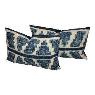 Pair of Handwoven Indigo Alpaca Pillows