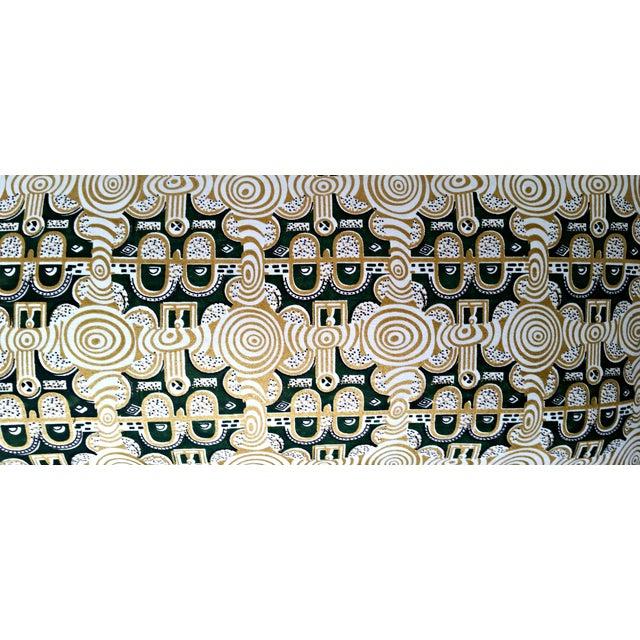 Emerald & Gold African Print Lumbar Pillow - Image 3 of 3