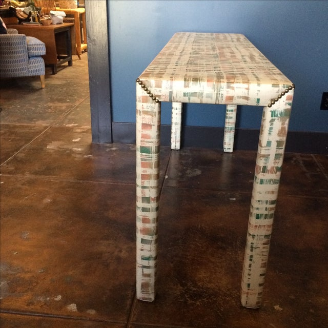 Upholstered Sofa Table - Image 7 of 11