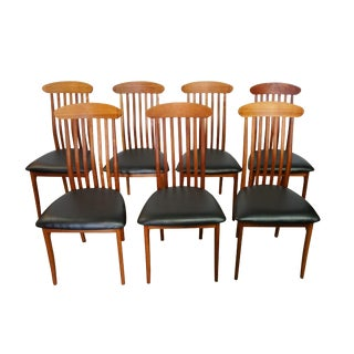 J.L. Moller Danish Dining Chairs - Set of 7