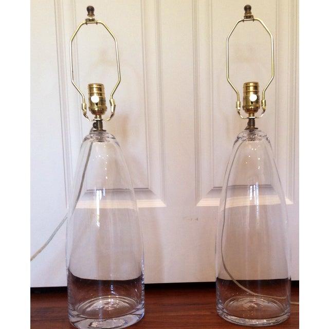 Image of Simon Pearce Handblown Lamps - Pair