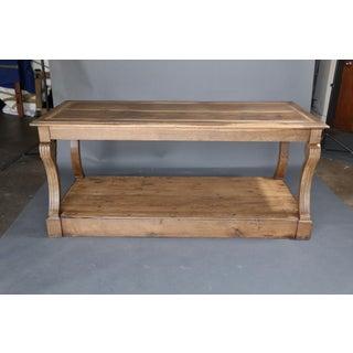19th Century Oak French Draper's Table