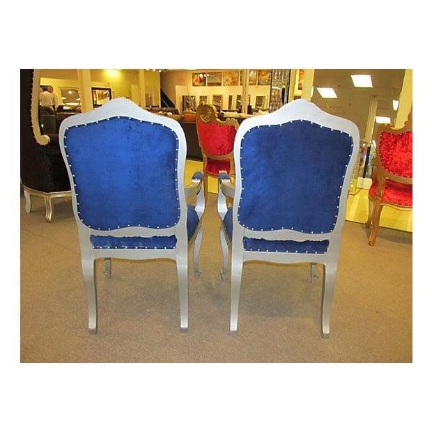 Mid-Century Velvet Armchairs - A Pair - Image 6 of 7