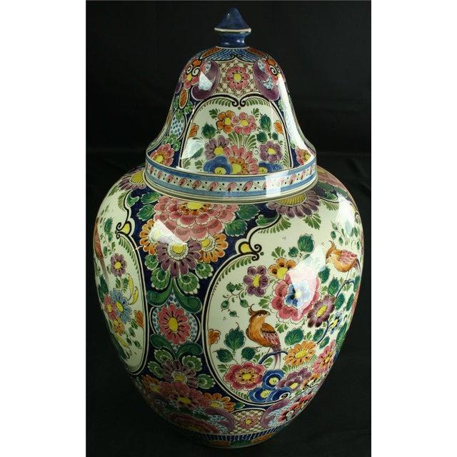 Large 1940s Vintage Majolica Ginger Jar - Image 4 of 8
