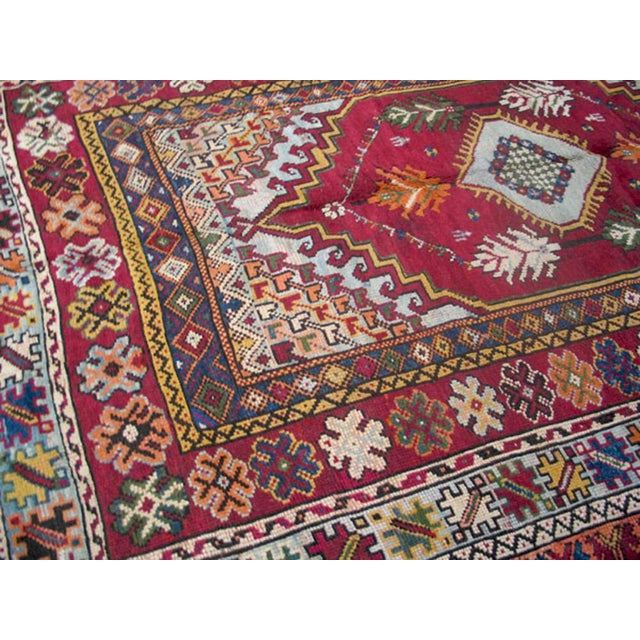 "Traditional Moroccan Wool Rug - 9'6"" X 6'7"""