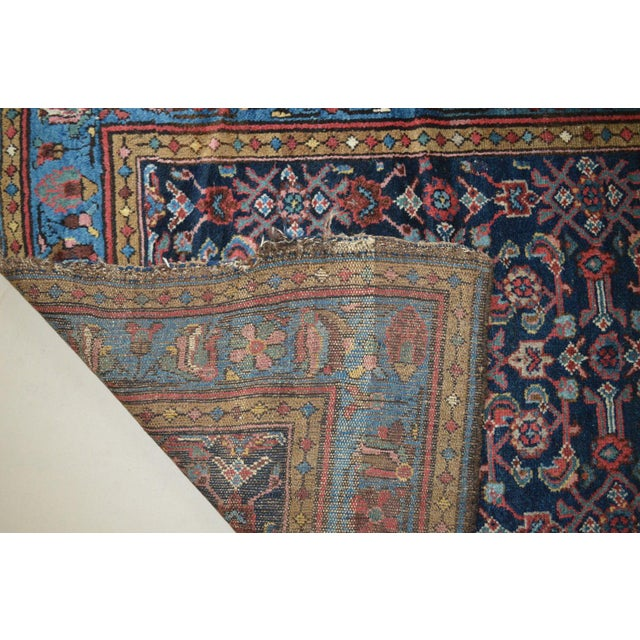 """Antique Persian Wide Runner- 3'10"""" X 9'7"""" - Image 11 of 11"""
