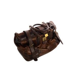 Beautiful Vintage Doctor Bag -Italian Leather - Brown