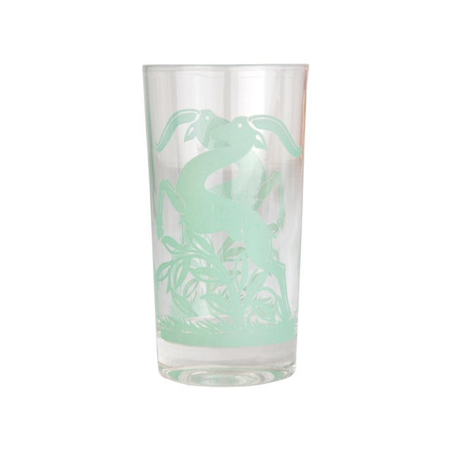 Image of Vintage Gazelle Drinking Glasses S/8