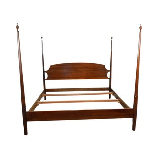 Stickley King Size Cherry Pencil Point Poster Bed