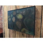 Image of Mid-Century Black Framed Abstract Painting