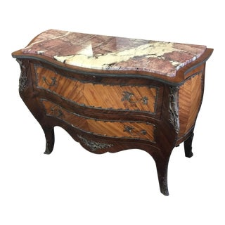 French Satinwood Serpentine Chest