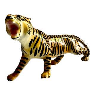Mid-Century Ceramic Tiger Figurine