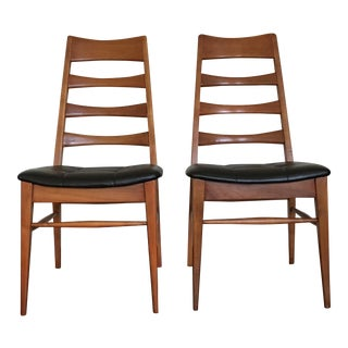 Heywood Wakefield Ladder Back Chairs - a Pair