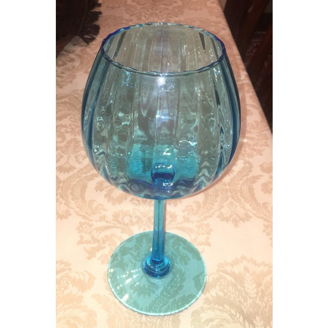 Turquoise Glass Candle Holder - Image 4 of 7