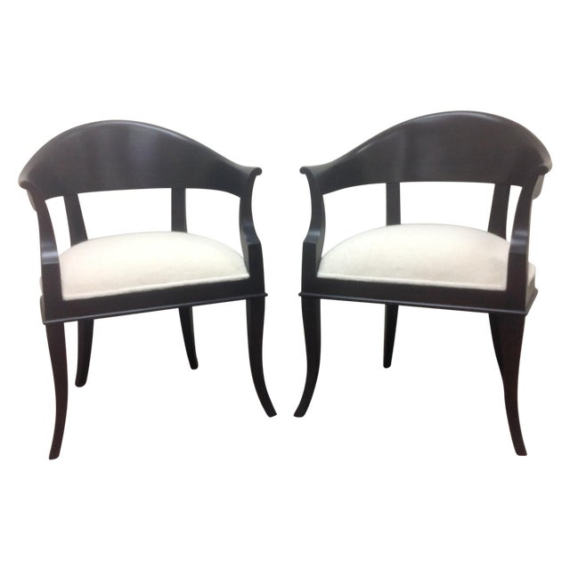 Mid Century Modern Style Chairs A Pair Image 1 Of 6