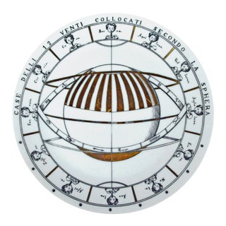 Piero Fornasetti Porcelain Astronomici Plate, #8 in Series
