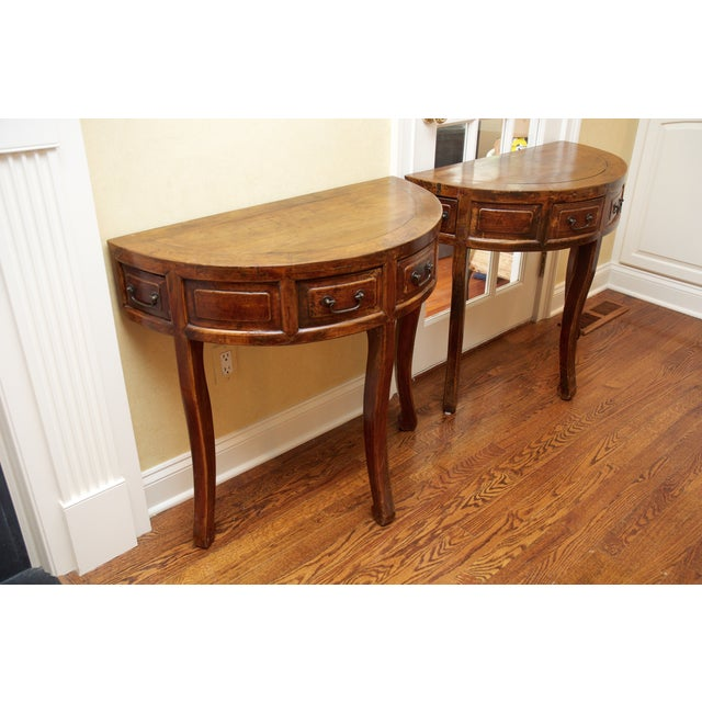 Demi Lune Tables or Round Accent Table - Set of 2 - Image 6 of 8