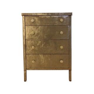 1920's Brushed Steel 4-Drawer Dresser