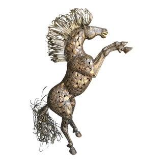 Vintage Bucking Horse Metal Sculpture