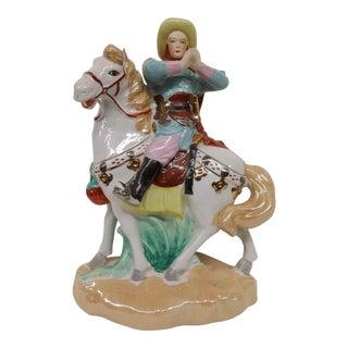 Mid-Century Chinese Lady & Horse