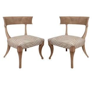 Pair of Sun-Bleached Klismos Chairs