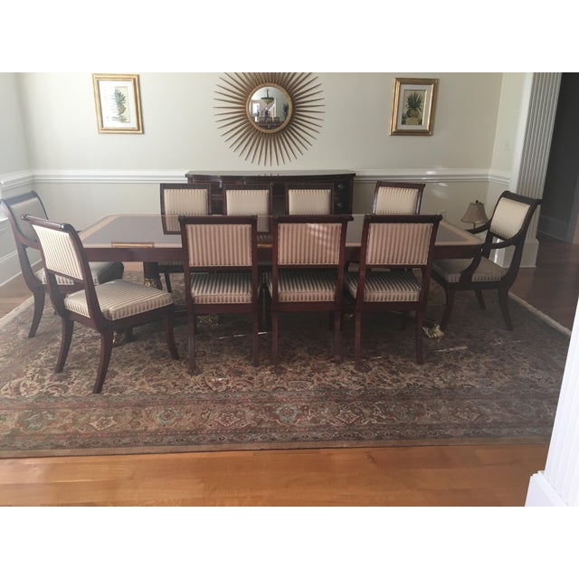 Baker Mahogany & Gold Regency Dining Set - Image 3 of 5