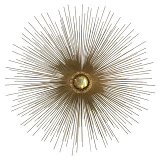 "36"" Starburst Curtis Jere Style Wall Sculpture"