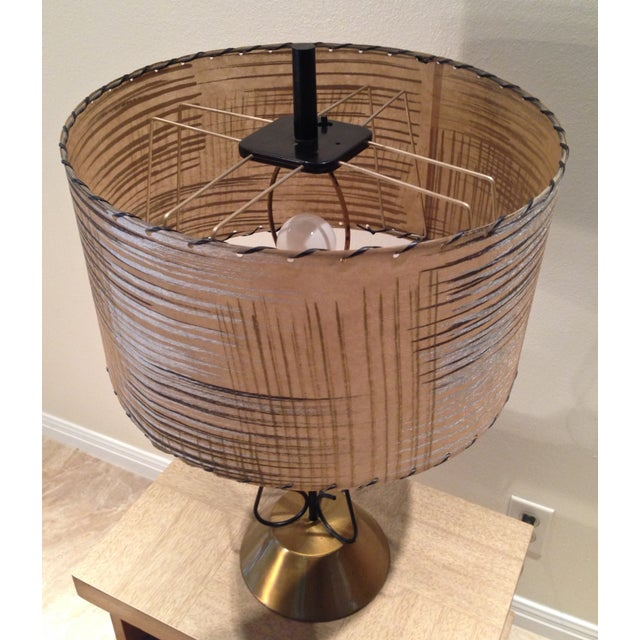 Image of Atomic Era Wire and Brass Table Lamp