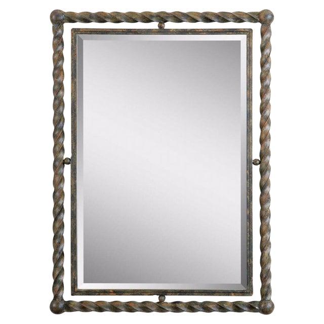 Wrought iron mirror chairish for Wrought iron mirror