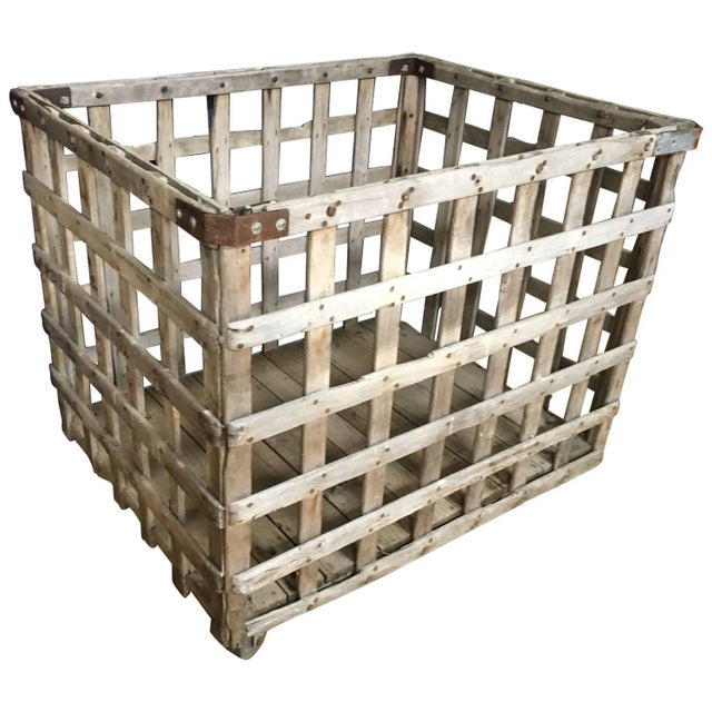 Industrial Wooden, Wheeled Factory Cart - Image 1 of 10
