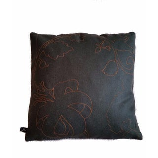 Maharam Layers Garden Copper & Peat Wool Pillow Cover