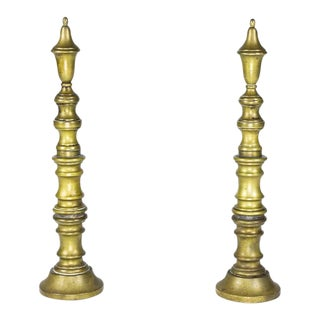 Early 20th Century French Brass Andirons