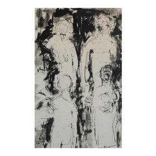 1960s Expressionist Ink Wash